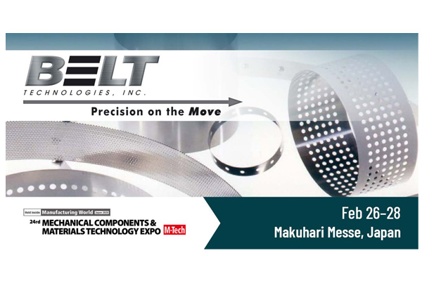 Belt Technologies is off to Japan to exhibit at M-Tech February 26–28, 2020
